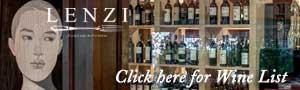 Lenzi Tuscan Kitchen Wine List