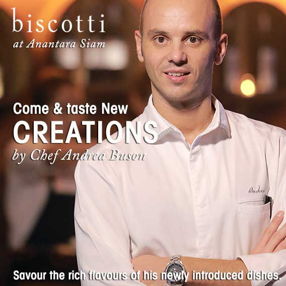Biscotti at Anantara Siam Unveils New Creations by Chef Andrea Buson