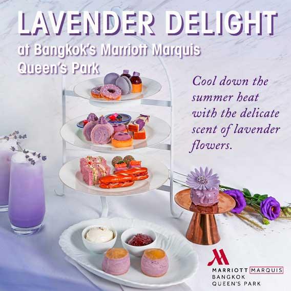 Lavender Delight at Bangkok Marriott Marquis Queen's Park