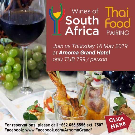 South African Wines & Thai Food Pairing at Arnoma Grand Hotel Bangkok