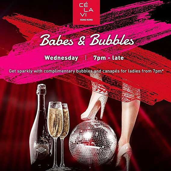 Babes & Bubbles at CÉ LA VI Hong Kong